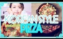 Korean Style Sweet Potato Pizza - A low calorie and healthy Pizza option