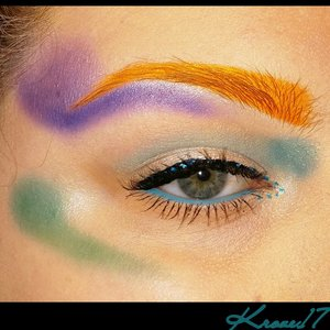 Did I mention I'm artistic? Haha I really want an airbrush machine.  U think I could do some damage with one!   This look was the result of trying to face chart with one palette.  It's kind of graffiti inspired.  Products used:  Sleek Palettes:  Snap Shot  Ultramattes  Lorac Pro Palette  Physicians Formula Black Liner  Jordana Blue Liquid Liner    #art #makeupart #graffiti #artistic #colorful #Sleekmakeup #Lorac #PhysiciansFormula  #bright #jordanacosmetics  #beauty #beautyshot #beautyproducts #cosmetics #makeup #makeuplook #makeuptrends #instabeauty #instamakeup #Kroze17