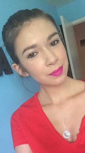 Absolutely living for this bright pink lip! Kat Von D Studded Kiss Lipstick in Sexer