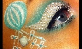 Mint and White Air Balloon Makeup Tutorial