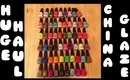 HUGE China Glaze Haul (58 polishes) From Head2ToeBeauty