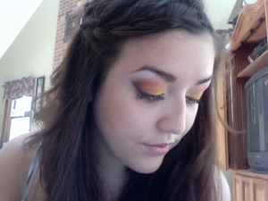 This look was for a contest I did! (Also check out my attempted waterfall braid!)