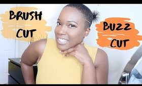 Natural Hair: I GOT A BRUSH CUT/BUZZ CUT   Big Chop   iamKeliB