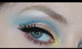 Too Faced Natural Nudes Blue and Gold Cut Crease Makeup Tutorial 2020 | Lillee Jean