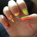Nerdy Rainbow Nails