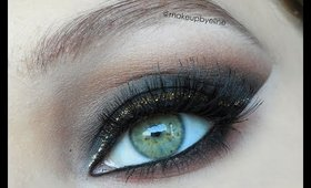 How to basic black smokey eyes and transform them into glamour/party/holiday make up look!