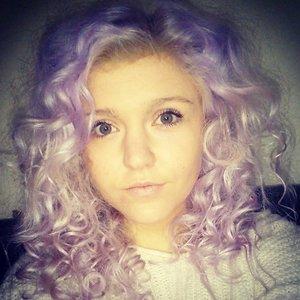 curly purple hair!