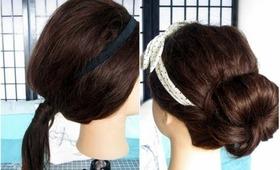 5 Quick & Easy | Headband Hairstyles