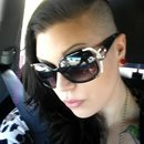 shaved head edgy glam summer
