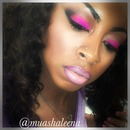 Hot Pink with Nude Lips