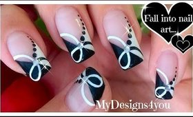 Quick Black and White Nail Art | Monochrome French ♥ Черно-Белый Дизайн Ногтей