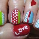 """""""Valentine's"""" nails"""
