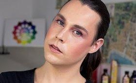Lilac Haze (maquillaje en tonos lilas y duraznos)