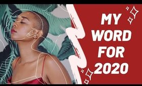 what is my word for 2020?