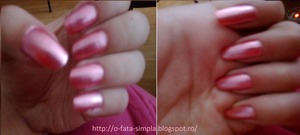This color and the simplicity reminds me of my childhood when I was using my mother's polish... The context of this nails on my blog  http://o-fata-simpla.blogspot.ro/
