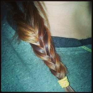 1st time attempting a fishtail braid