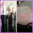 "M.A.C ""Angel"" lipstick & swatch"