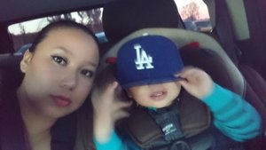 me and my little man he knows what its about lol LA dodgers