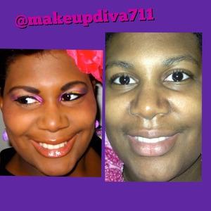 Left: beatface no filter  Right: no makeup no filter