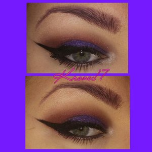 Unbreakable! Today's look features:  Lorac Pro Palette 1&2 (Plum on the brows. Deep Purple on lid. Taupe and Mauve in crease. Cream and Nude on brow bone. Snow inner corner.) Glamourdolleyes Spider- Sense (Putter V and crease.) Too Faced Glitter Glue  Glamourdolleyes Glitter Tube in My Dismay, Then MAC Reflects Teal Glitter over top. NYX Gel Liner in Black. Loreal Lash Out Butterfly Mascara.  That's all folks!  #Makeup #glitter #purple #teal #wingedliner #loraccosmetics #glamourdolleyes #GDE #mydismay #ReflectsTeal #Mac #nyxcosmetics #loreal #toofaced #coloredbrows #cosmetics #Beautyshot #beauty #makeuplook #instabeauty #instamakeup #kroze17