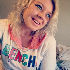 ash-blonde, overnight french braid curls.