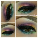 Colorful Spring Makeup Look