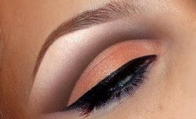 Natural peach cut crease look / make-up tutorial / Wedding bridal make up
