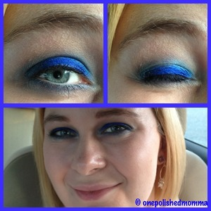 Recreating a look I saw on xsparkage.com using the urban decay vice palette. Love this blue