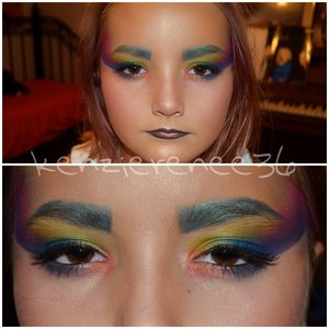 Used every shadow in the Palette!