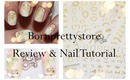 Bornprettystore.com Review And Nail Tutorial (nail stickers and piercing)