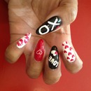 Valentine Stiletto Nails