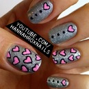 Glitter Hearts Nail Art