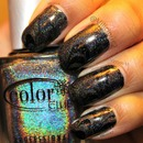 Black creme & holo water marble