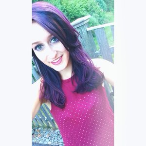 I used punky colour hair dye in the shade plum over all of my hair in clouding some bleached highlights