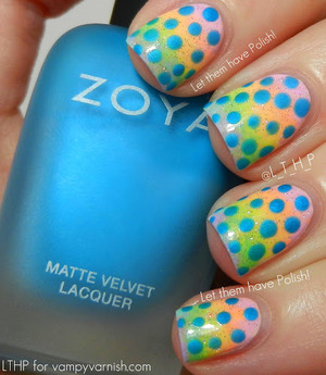 For how to and details http://www.vampyvarnish.com/2013/03/nail-art-wednesday-polish-easter-mani-lime-crime