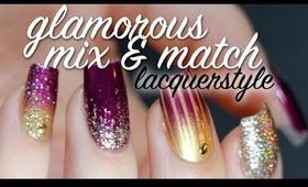 Glamorous Mix & Match Nail Art Tutorial | Lacquerstyle