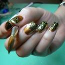 Opi / Goldeneye And Transfer Foil Nail Art
