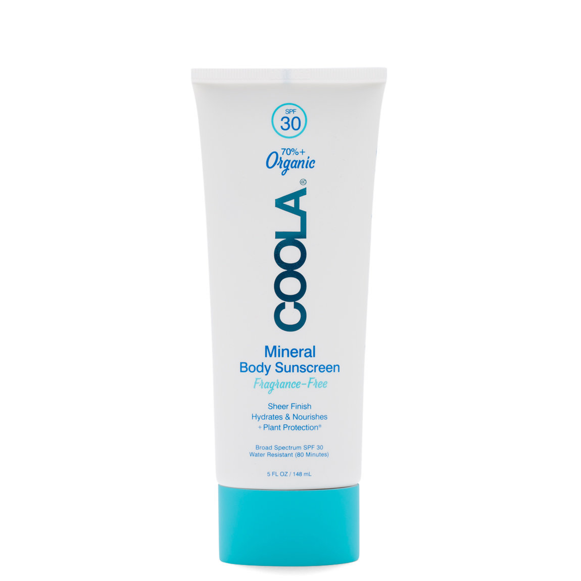 COOLA Mineral Body Sunscreen Lotion SPF 30 product smear.