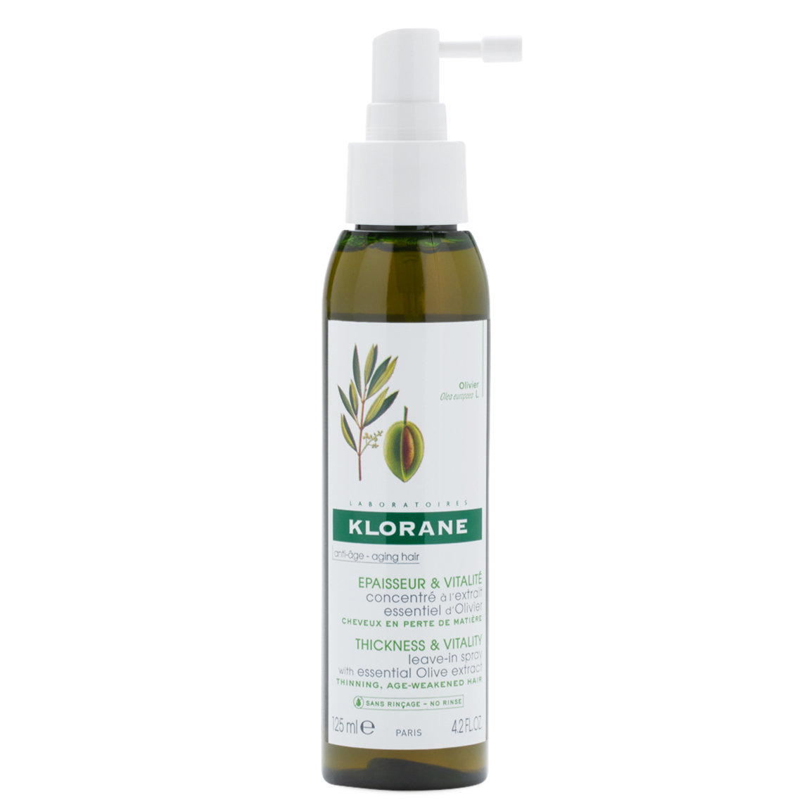 Klorane Leave-In Spray with Essential Olive Extract product swatch.