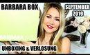 Barbara Box September 2019 | Unboxing & Verlosung (super Produkte 😍)
