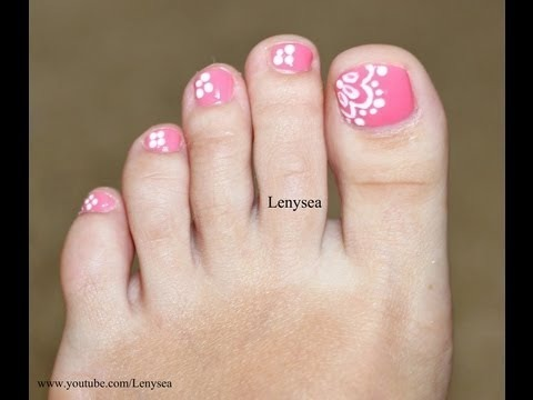 easy lace toe nail art design  lenysea video  beautylish