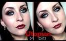 Utopian Blitz: Black, Red & Gold Makeup