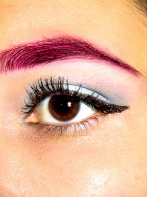 Quick Pink Eyebrow and Powder Blue Eyeshadow