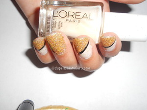 If you like this look, pleas check out and follow my blog here:  http://superbeautyguru.com/glittery-nails-manicure-using-real-loose-glitter/  glitter nails, gold glittery nail look, loose glitter nail tutorial, sparkly, glittery gold nails, glitter, Spring, nails, nail look, nail tutorial, nail art, nail design, beauty, red roses, creative nails, nail blog, Amber Johnson, Amber Camille Johnson