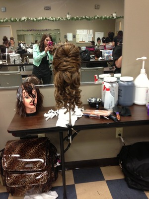 Just a simple updo I done at school