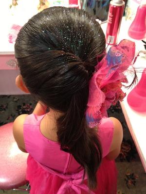 elegent twist ponytail