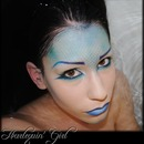 Harlequin' Girl Makeup Artist