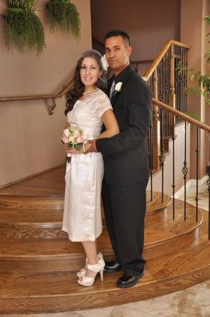 My Wedding Pic, 8/15/10. Did my own hair and make-up.