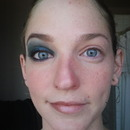 Before And After Blue Smoky Eye