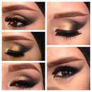 Golden bridal makeup